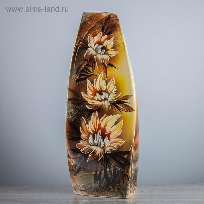 """Ваза напольная """"Скала"""" белые цветы"""