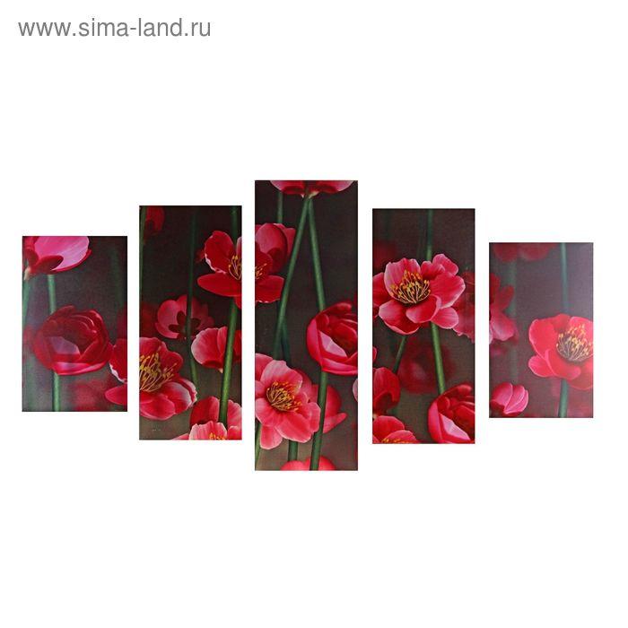 """Модульная картина на холсте с подрамником """"Стильные цветы"""""""