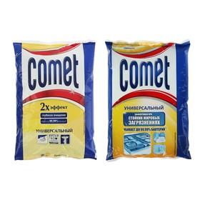 """Порошок чистящий Comet с дезинфицирующими свойствами """"Лимон"""" с хлоринолом, 400 г"""