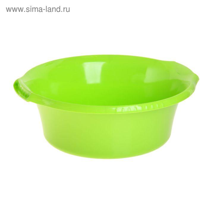 """Таз круглый 12 л """"Водолей"""", цвет салатовый"""