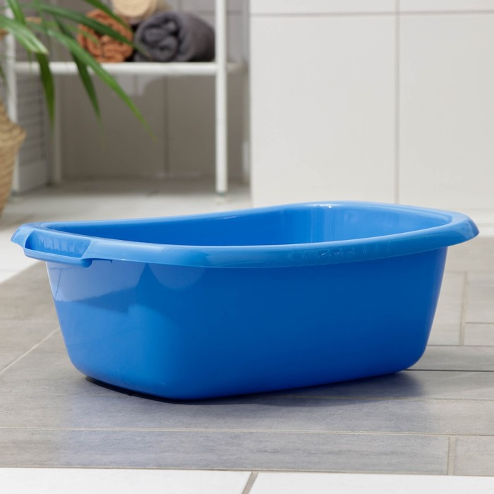 """Таз """"Водолей"""" овальный 11 л, цвет синий"""