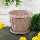 """Горшок для растений """"Фелиция"""" Лофт 0,4 л d=10,5 см с поддоном, цвет МИКС"""