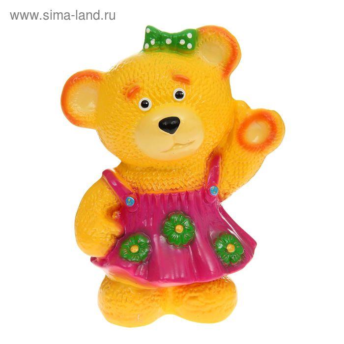"""Копилка """"Медведица в платье"""" глянец, жёлтая"""