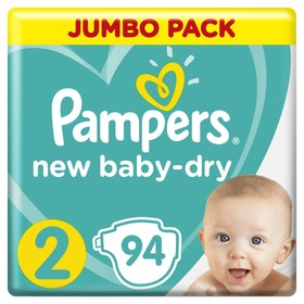 Подгузники Pampers New Baby-dry, Mini 2 (3-6 кг), 94 шт.