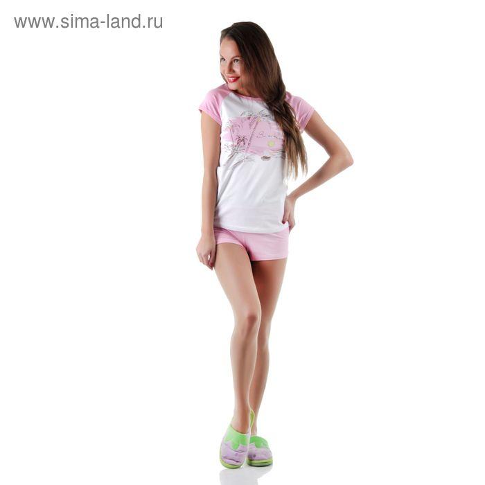 Комплект женский (футболка, шорты) 14С260 П, р-р 52
