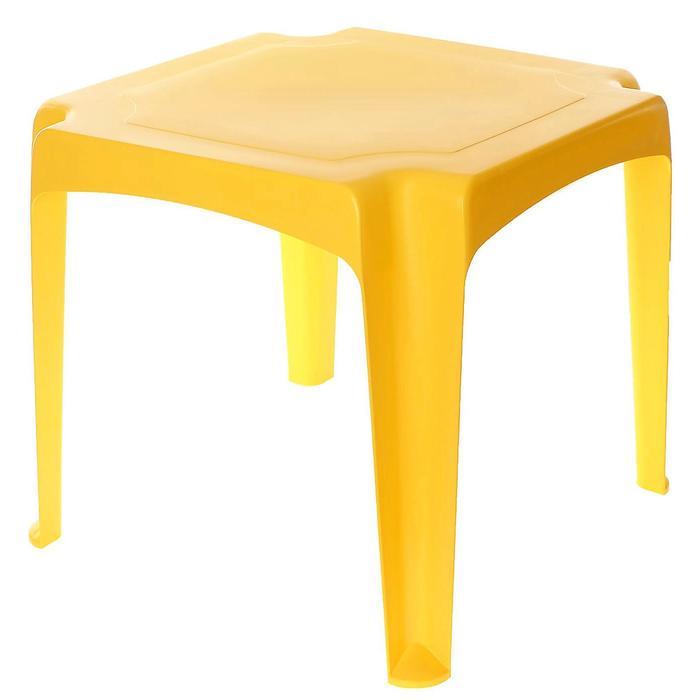 Детский стол, цвет желтый