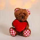"""Мягкая игрушка-подвеска """"Мишка"""", в лапах сердце, цвета МИКС"""