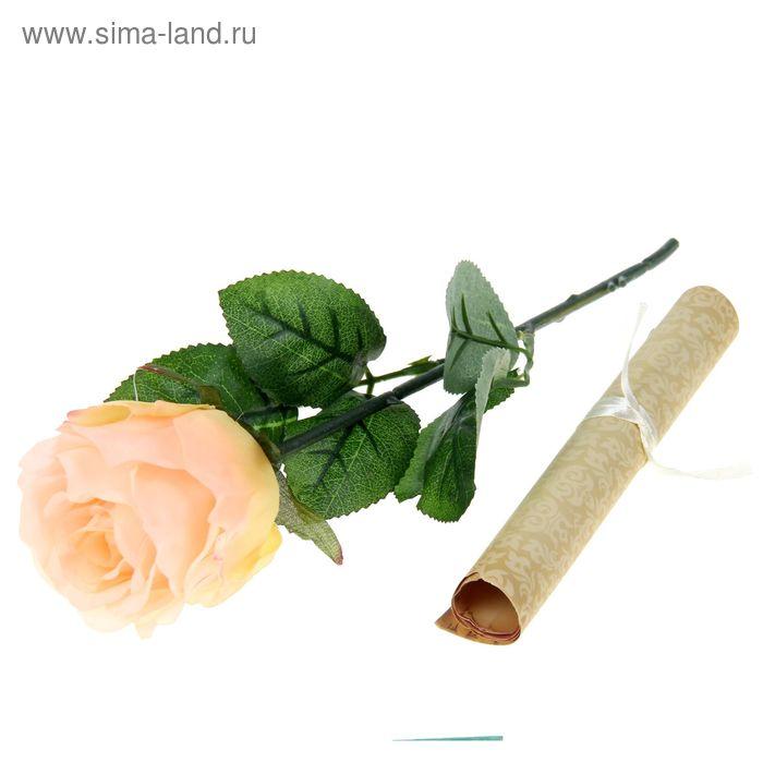 """Роза со свитком-открыткой """"Признание в любви"""", 6,5 х 30 см"""