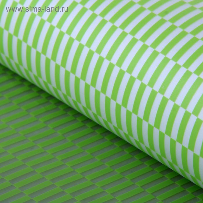 "Плёнка прозрачная ""Геометрия"", цвет зелёный, 60 х 60 см"