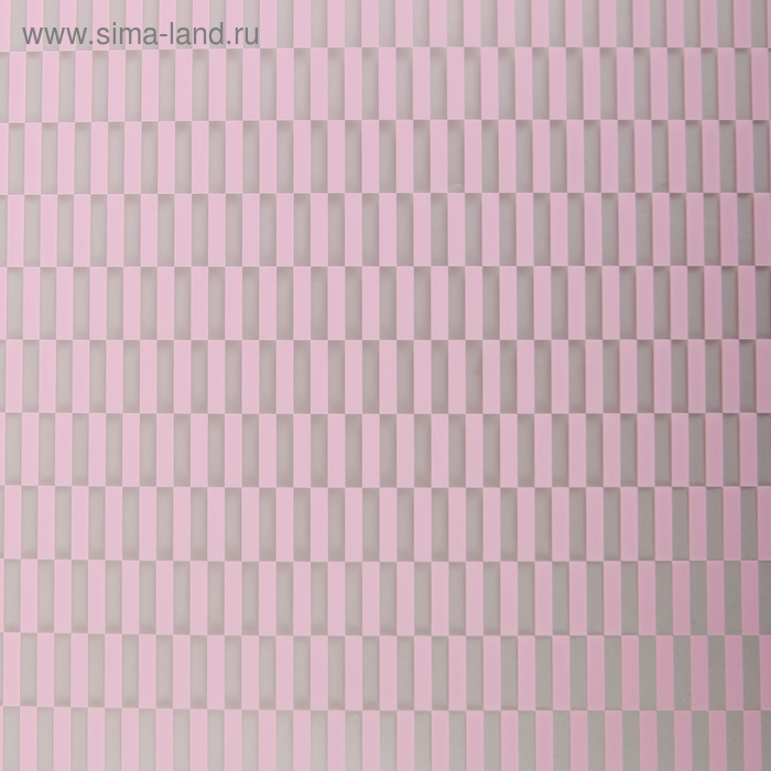 """Плёнка прозрачная """"Геометрия"""", цвет розовый, 60 х 60 см"""