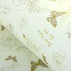 """Пленка для цветов """"Розы с бабочками"""", бежевый, 60 х 60 см"""