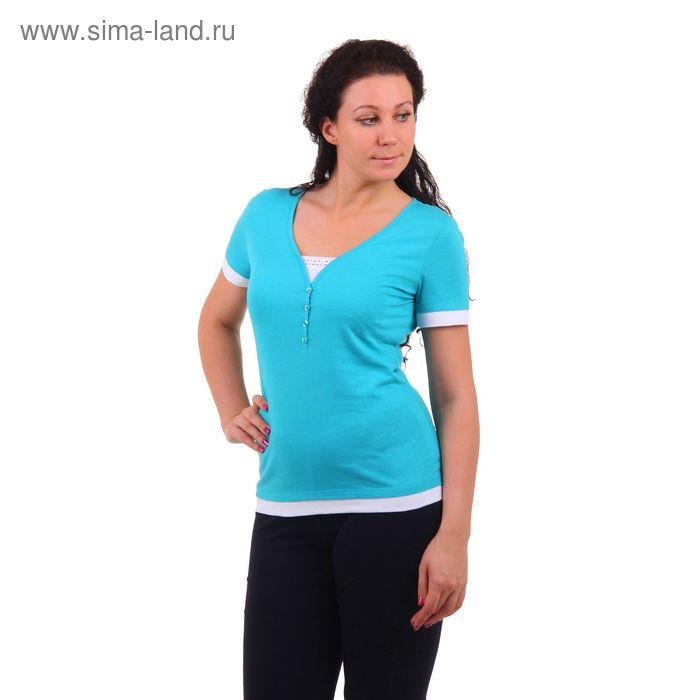 Футболка женская MK2198/01 изумрудный, р-р 42