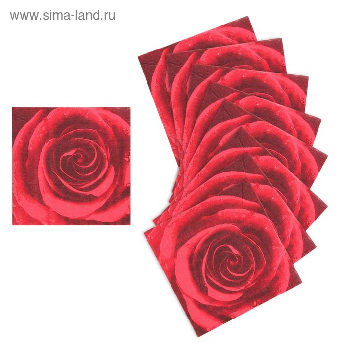 "Салфетки бумажные ""Сочная роза"" (набор 20 шт)"