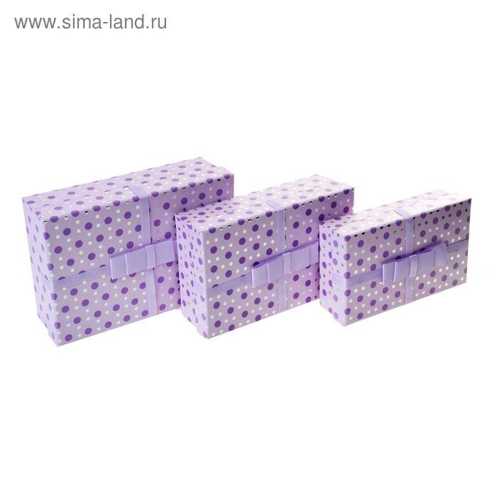 """Набор коробок 3в1 """"Капли росы"""", цвет сиреневый"""