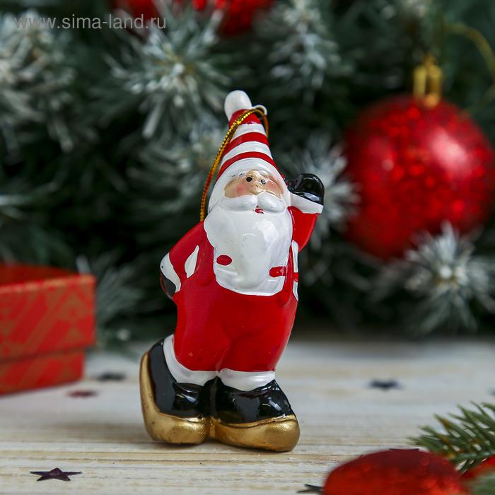 "Сувенир ""Дед Мороз на лыжах"""