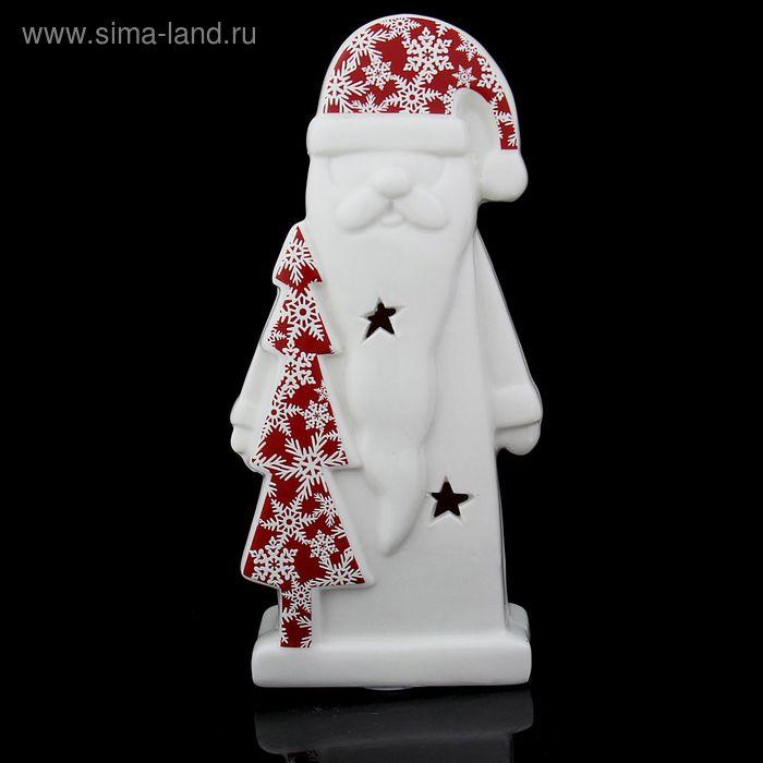 """Сувенир """"Дедушка Мороз с ёлочкой в снежинках"""" световой"""