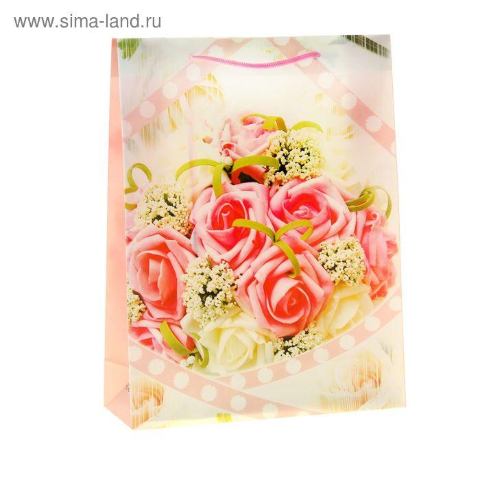 """Пакет пластиковый """"Нежные розы"""""""