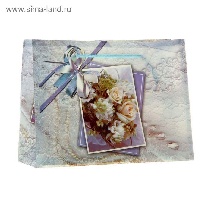 """Пакет пластиковый """"Розы с бантиком"""""""