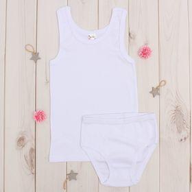 Комплект для девочки, рост 98-104 см (3 года), цвет белый AZ-604