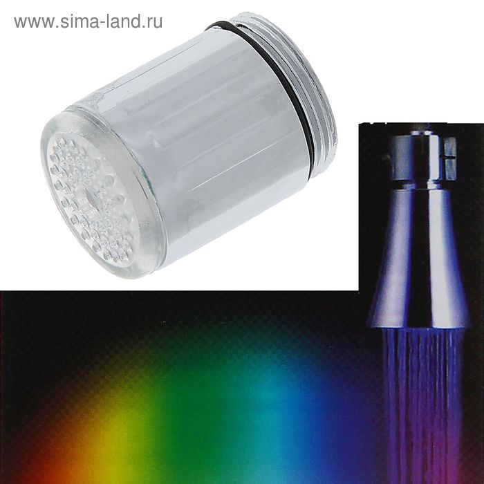 Насадка на кран с подсветкой LED мульти, 7 цветов NK-001