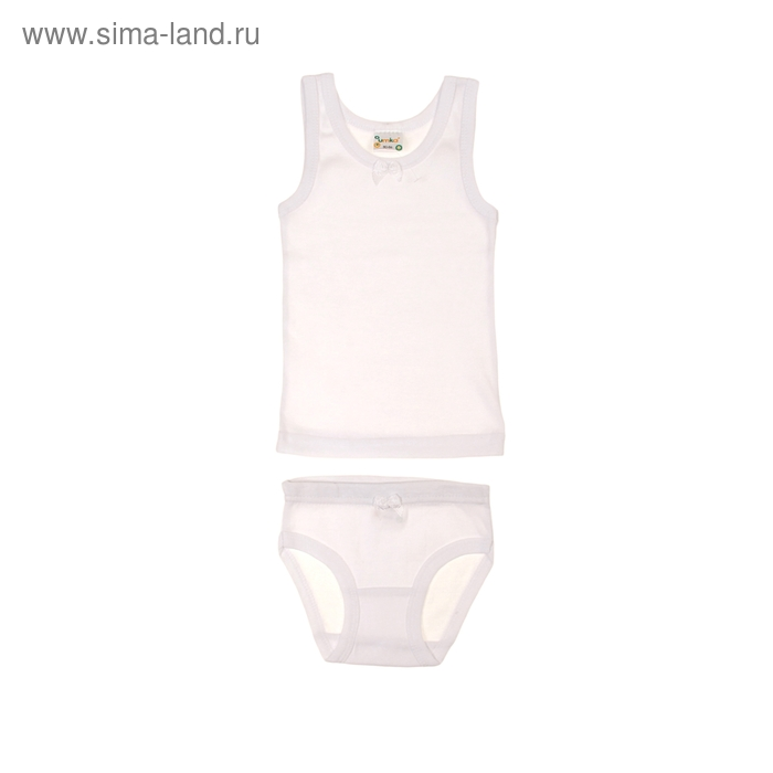 Комплект для девочки (майка+трусы), рост 98-104 см, цвет белый AZ-606