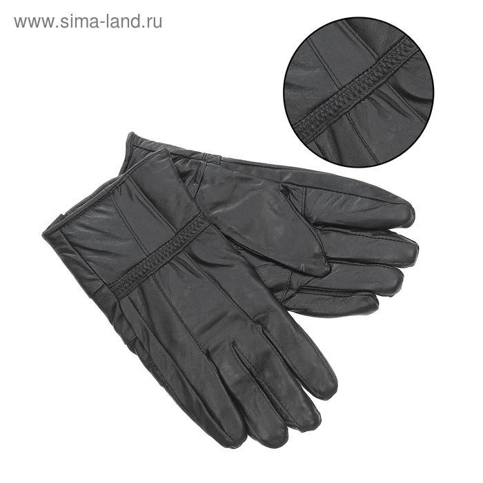 """Перчатки мужские """"Брэд"""" подклад - флис, р-р 9,5, чёрные"""