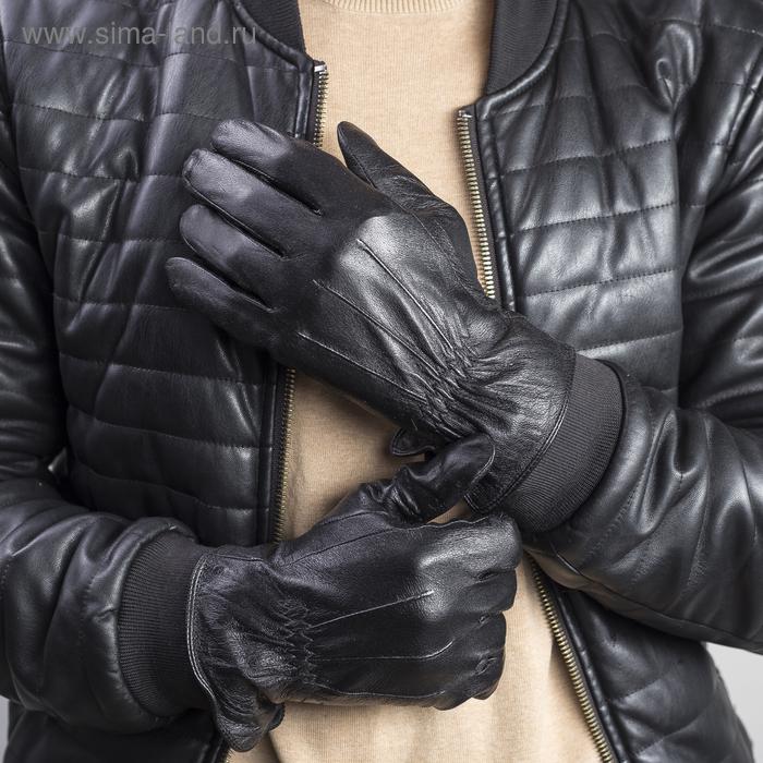 """Перчатки мужские """"Престон"""" подклад - флис, р-р 9,5, чёрные"""