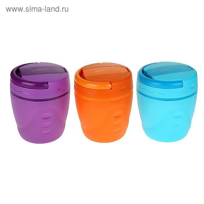 """Ланч-бокс """"Феерия"""" (внутри пластик) 1 л, 1 тарелка, цвета МИКС"""