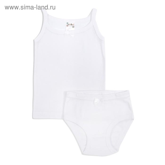 Комплект для девочки (майка+трусы), рост 92 см, цвет белый AZ-607