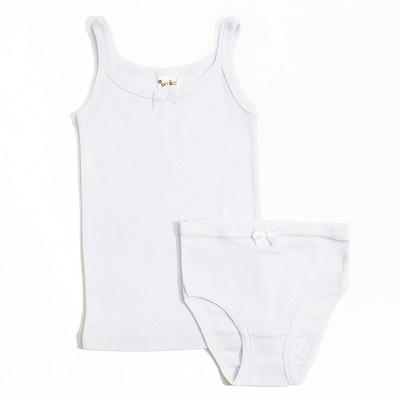 Комплект для девочки (майка, трусы) 203-015-00001 белый 134-140 см