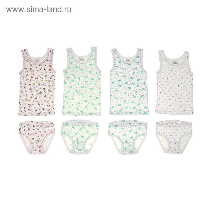Комплект для девочки (майка+трусы), рост 80-86 см, цвет белый AZ-601
