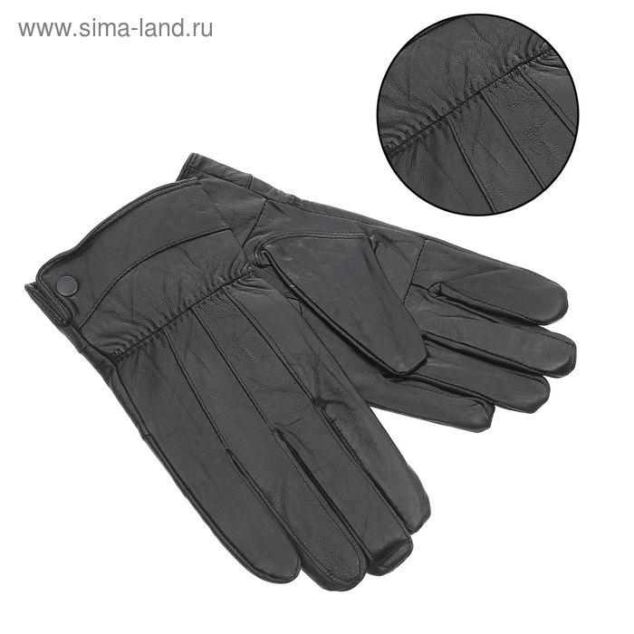 """Перчатки мужские """"Джек"""", подклад - флис, р-р 8,5, чёрные"""