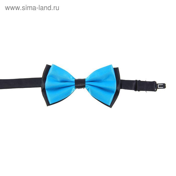Карнавальная бабочка, цвет голубой