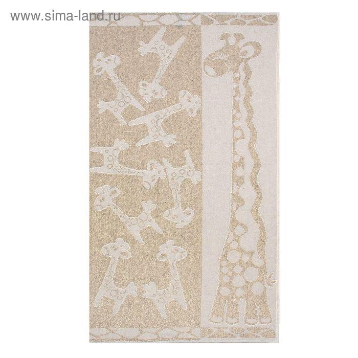 Полотенце махровое Жирафики 50х90 см, 385 гр/м, хл/лен
