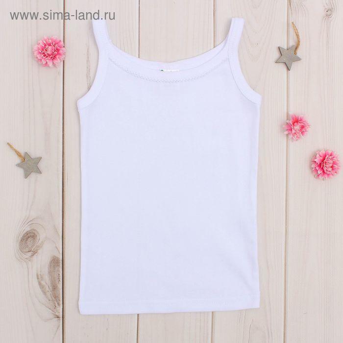 Майка для девочки, рост 98-104 см, цвет белый AZ-635_Д