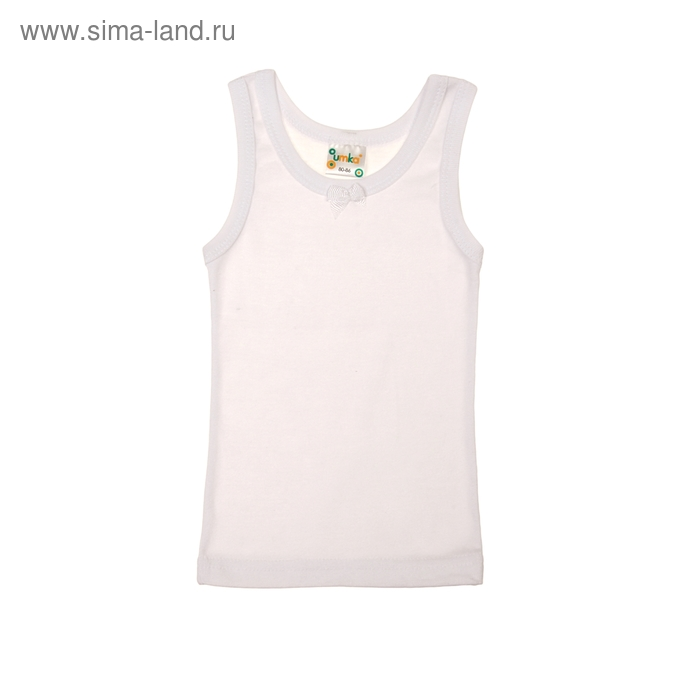Майка для девочки, рост 80-86 см, цвет белый AZ-636