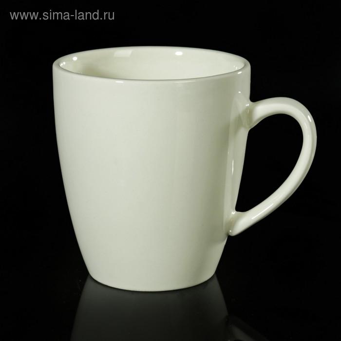 Кружка 370 мл, d=9 см, h=12,4 см, цвет белый