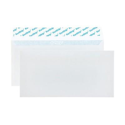 Конверт почтовый E65 110х220мм чистый, без окна, силиконовая лента, внутренняя запечатка, 80г/м, упаковка 100шт
