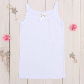 Майка для девочки, рост 98-104 см, цвет белый AZ-637