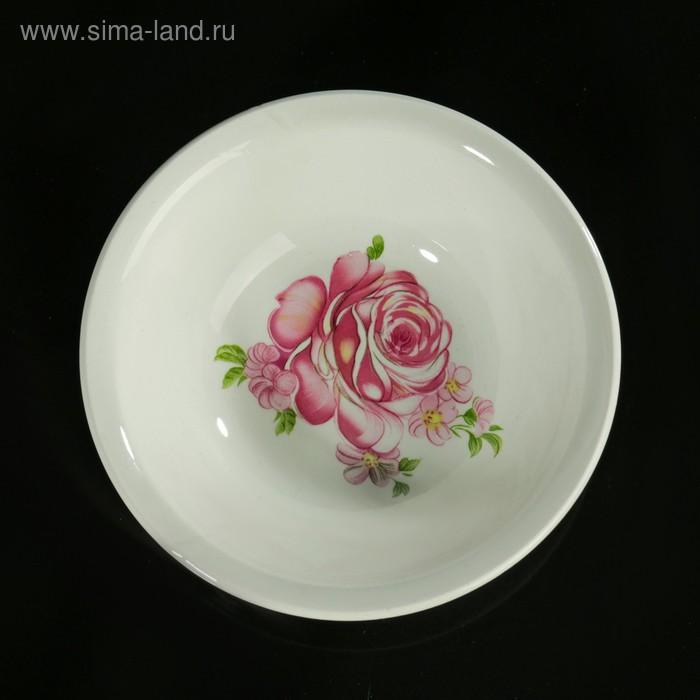 """Салатник 270 мл, d=13,5 см, h=4,5 см """"Розовые розы"""""""