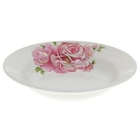 """Тарелка глубокая 250 мл """"Розовые розы"""", d=20 см"""