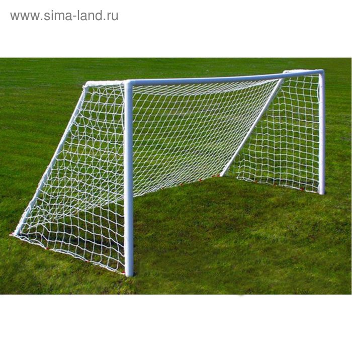 Сетка футбольная белая нить 2,5 мм 7,5м*2,5 м, ( в комплекте 2 сетки)