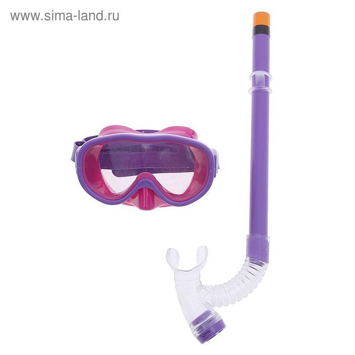 Маска и трубка детская цвета МИКС М8023513, PVC в пакете
