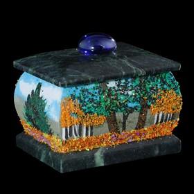 Шкатулка 'Осень', каменная крошка Ош