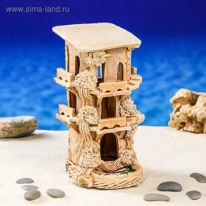 """Декорации для аквариума """"Замок черепашник"""""""