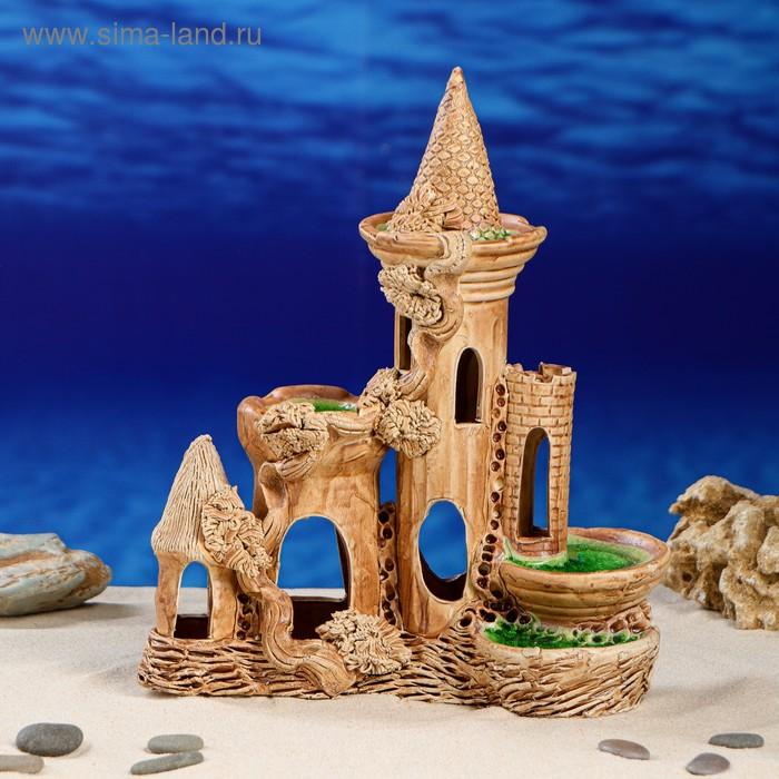 """Декорации для аквариума """"Средний тройной замок"""""""