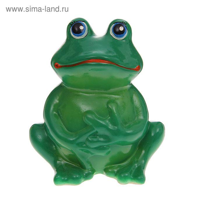 """Копилка """"Сидящая лягушка"""" зелёная"""