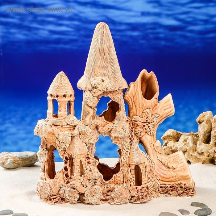 """Декорации для аквариума """"Замок с куполом"""""""