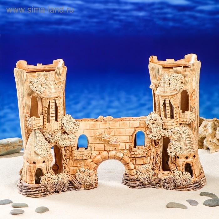 """Декорации для аквариума """"Замок двойной с аркой"""""""