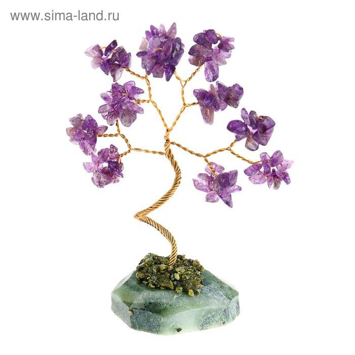 """Дерево счастья """"Аметист"""", натуральный камень, 12 лист"""